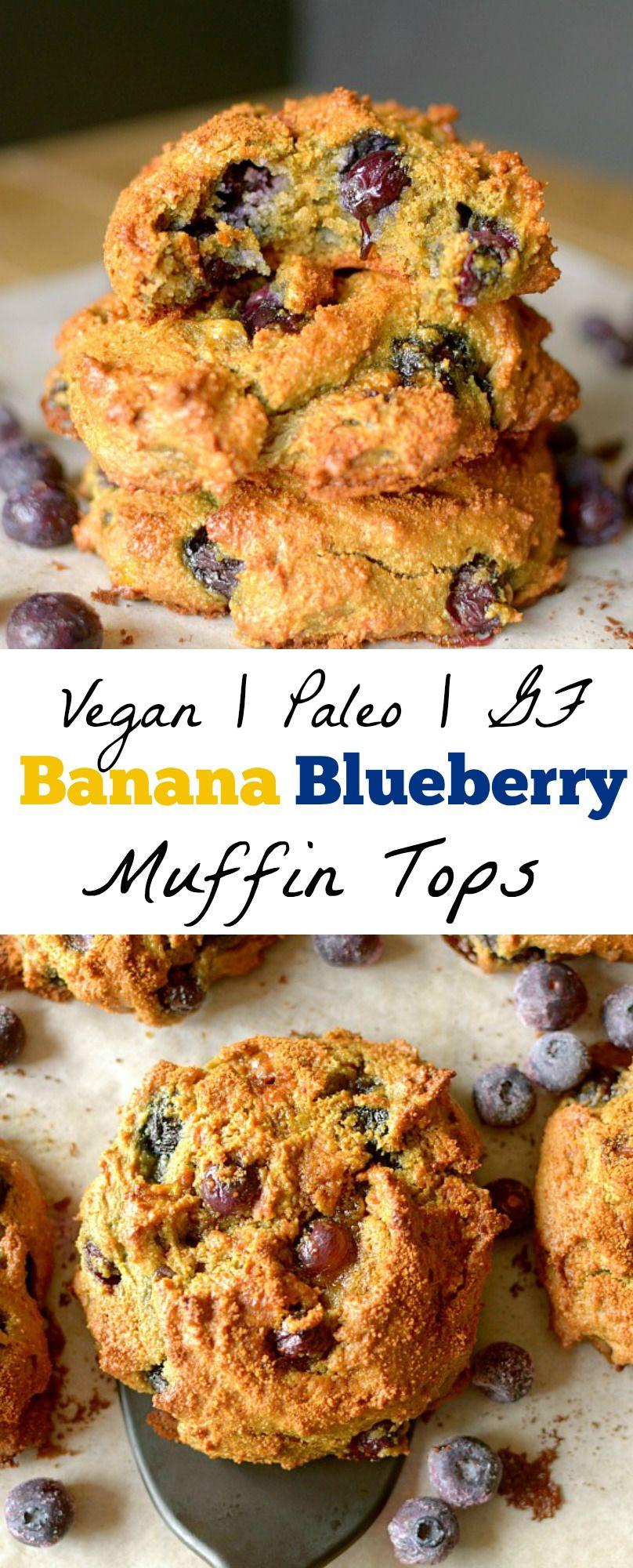 Healthy Banana Blueberry Muffin Tops Paleo Vegan Gluten Free