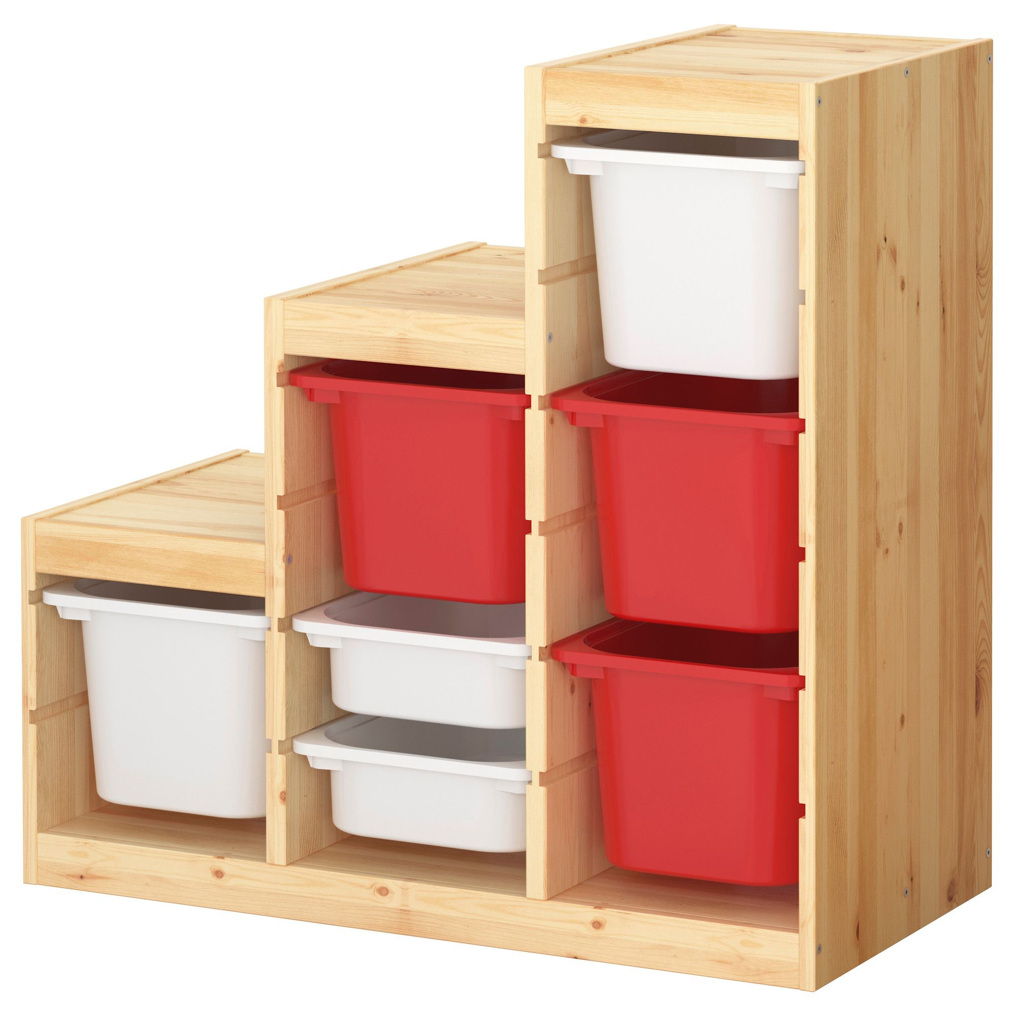 trofast storage combination with boxes ikea bins in red. Black Bedroom Furniture Sets. Home Design Ideas