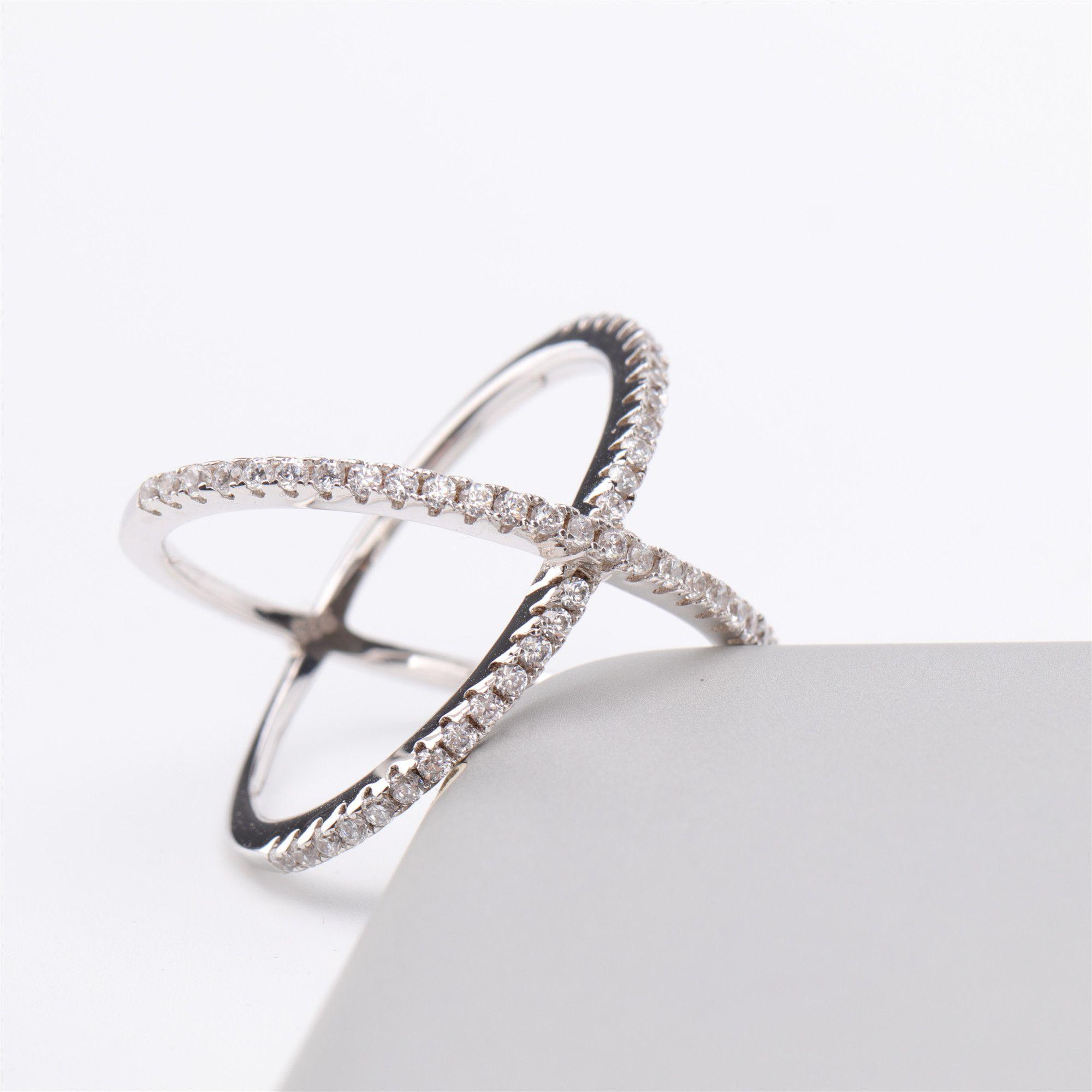 FB Jewels 925 Sterling Silver Mens Women Baguette CZ Cross Charm Religious Pendant