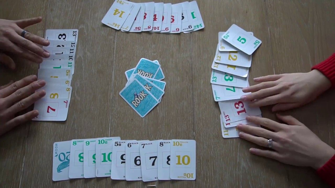 How To Play Rook With Actual Gameplay Rook Card Game Playing Card Games Card Games