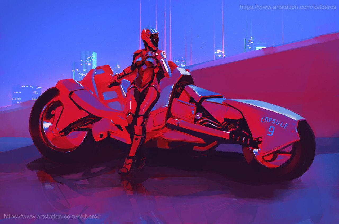 Cyberpunk Art Graphic Future Capsule9 By Mateusz Michalski