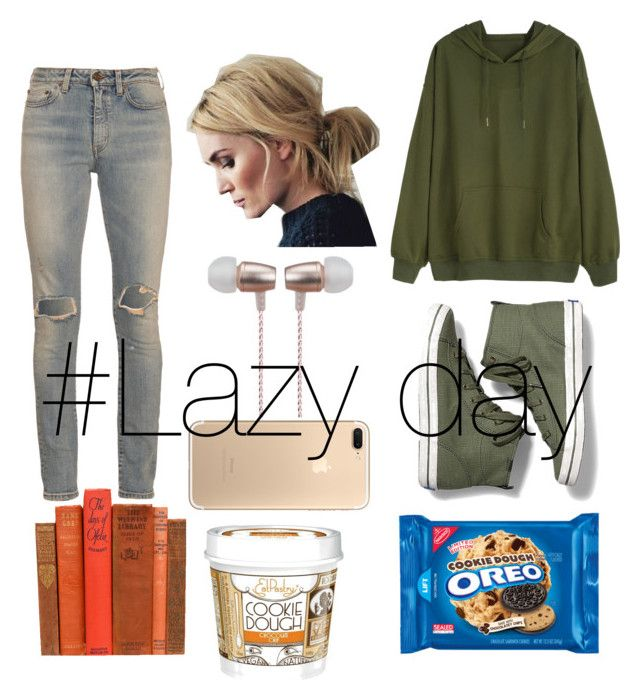 """""""😴#lazy day"""" by kaykaydabosss ❤ liked on Polyvore featuring Keds, Yves Saint Laurent and Cynthia Rowley"""