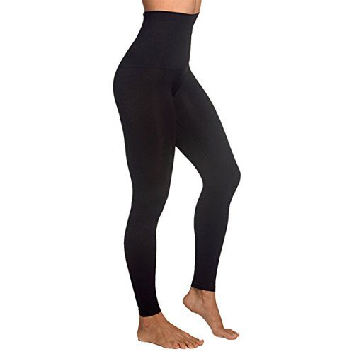 30e9fe15fb Shymay Womens Seamless Leggings High Waisted Slimming Solid Full Length  Leggings Black Tag size SMUS size 48 ** Details can be found by clicking on  the ...