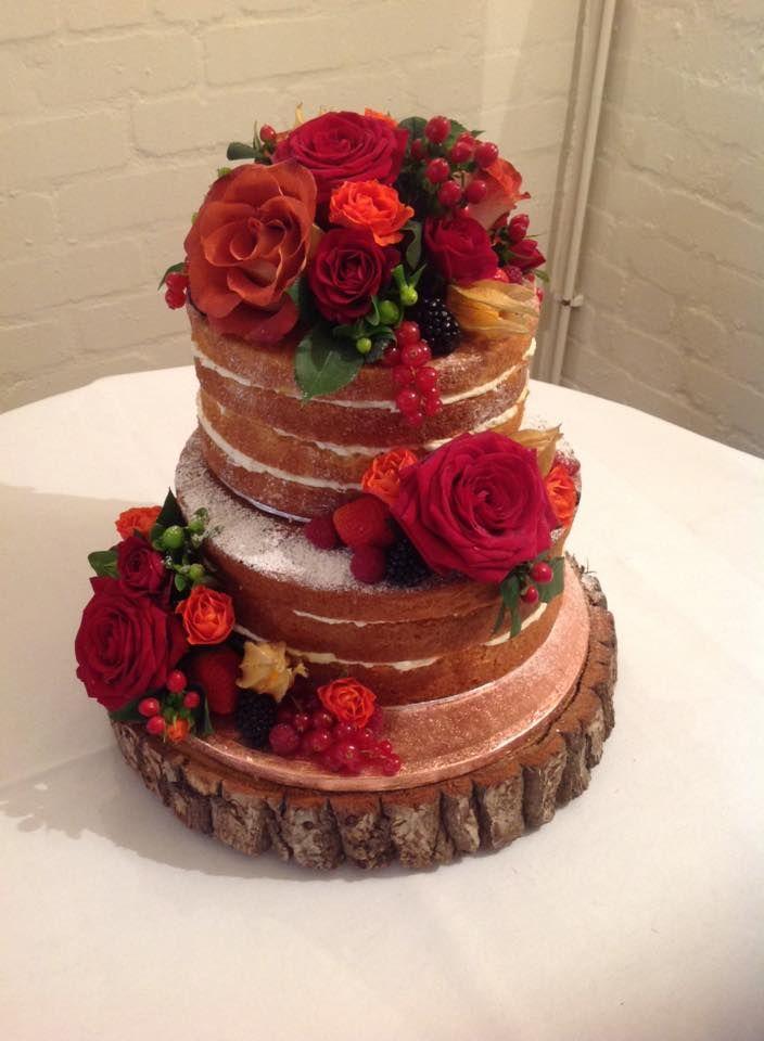 Naked Cake For A Winter Wedding Chocolate Naked Sponge