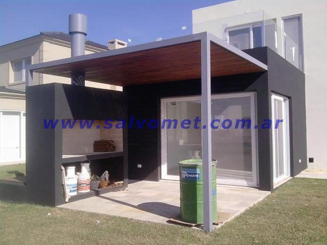 Fabrica de pergolas techos chapa para cocheras garages for Modelos de techos de chapa