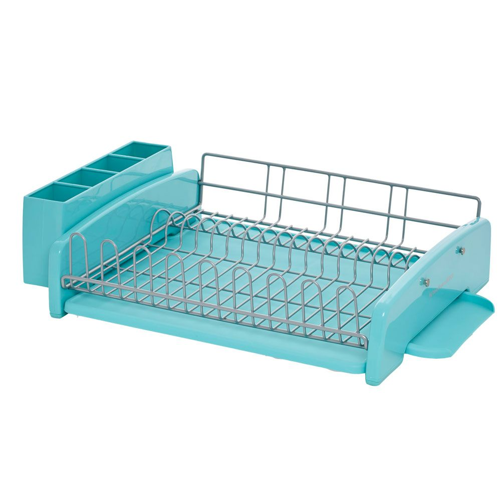 Cuisinart Dish Rack Glamorous Aqua Sky 3 Piece Dish Rack  Dish Racks Aqua And Dishes Design Ideas