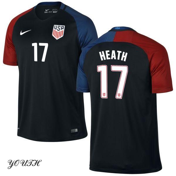 f1b66f379 2016 Tobin Heath Youth Away Jersey  17 USA Soccer
