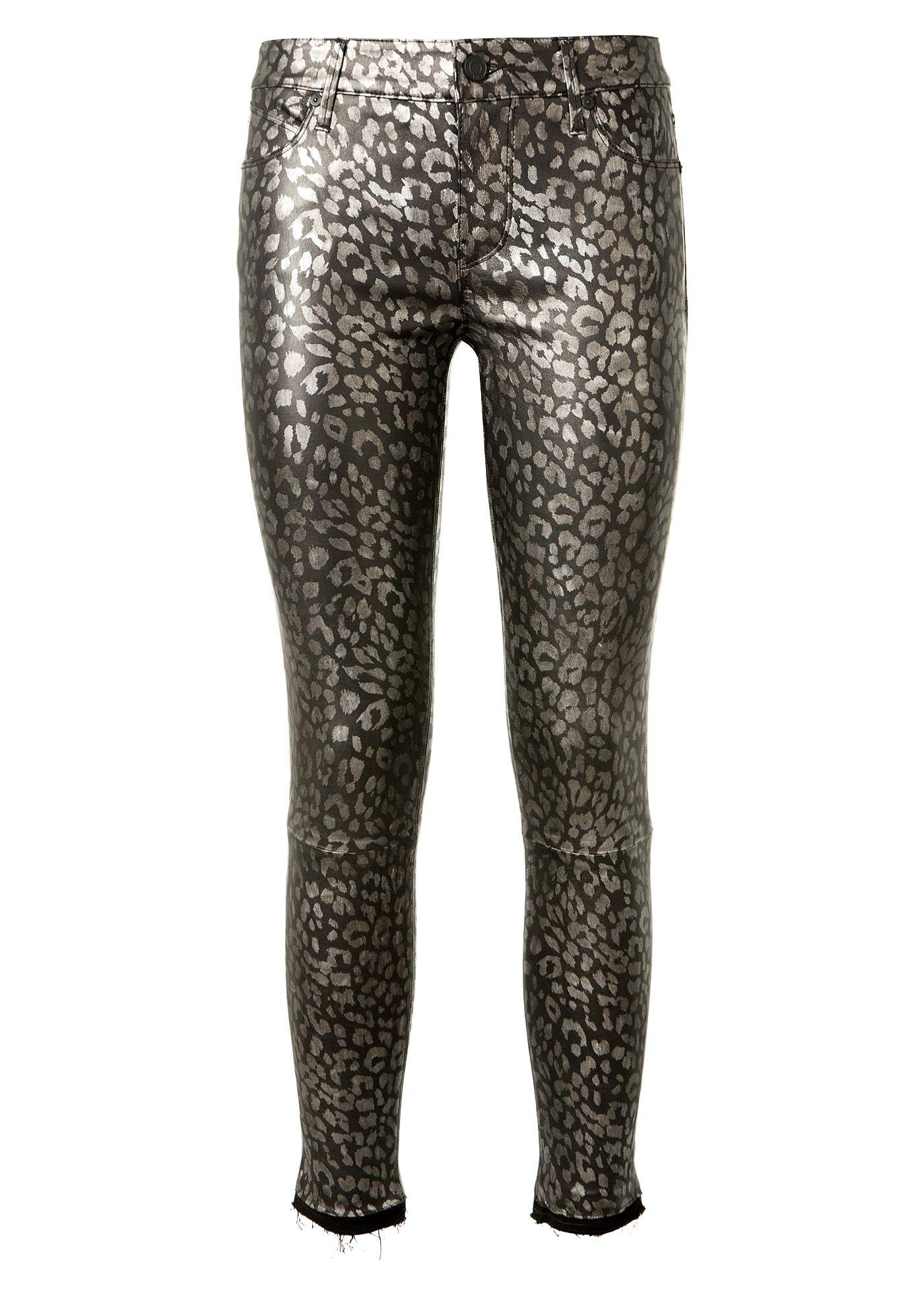 95fef9c61046 RTA Rta Prince Golden Brown Leopard Printed Black Leather Pants. #rta  #cloth #
