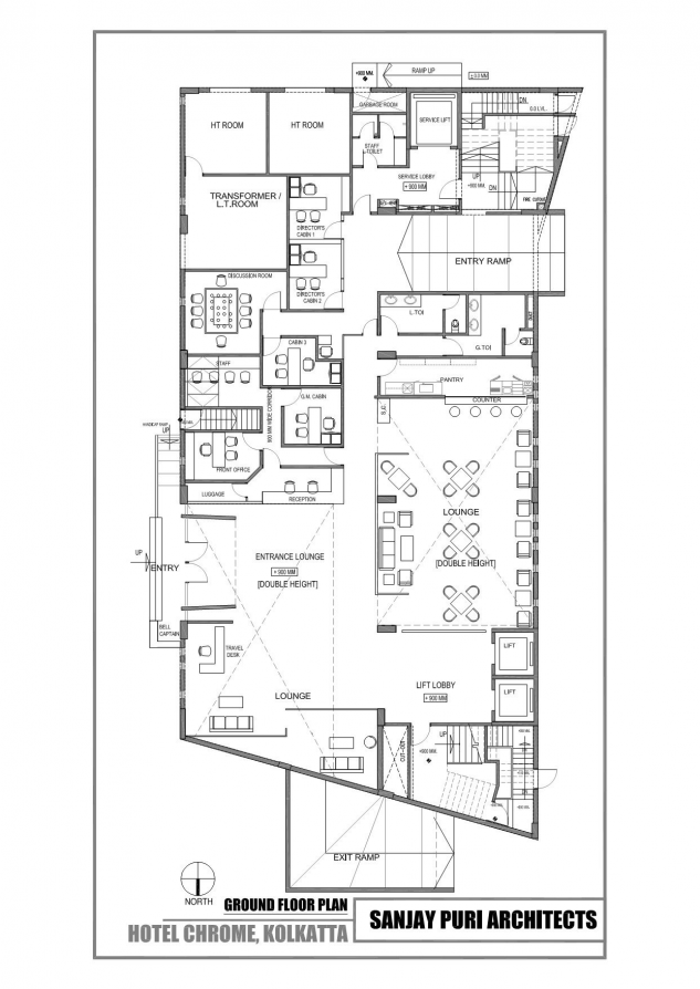 Image 7 Of 10 From Gallery Of Chrome Hotel Sanjay Puri Architects Ground Floor Plan Hotel Hotel Drawing In 2020 Hotel Architecture Hotel Plan Hotel Room Plan