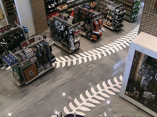 Epoxy Floors In White Sox Team Colors At Chicago Sports Depot