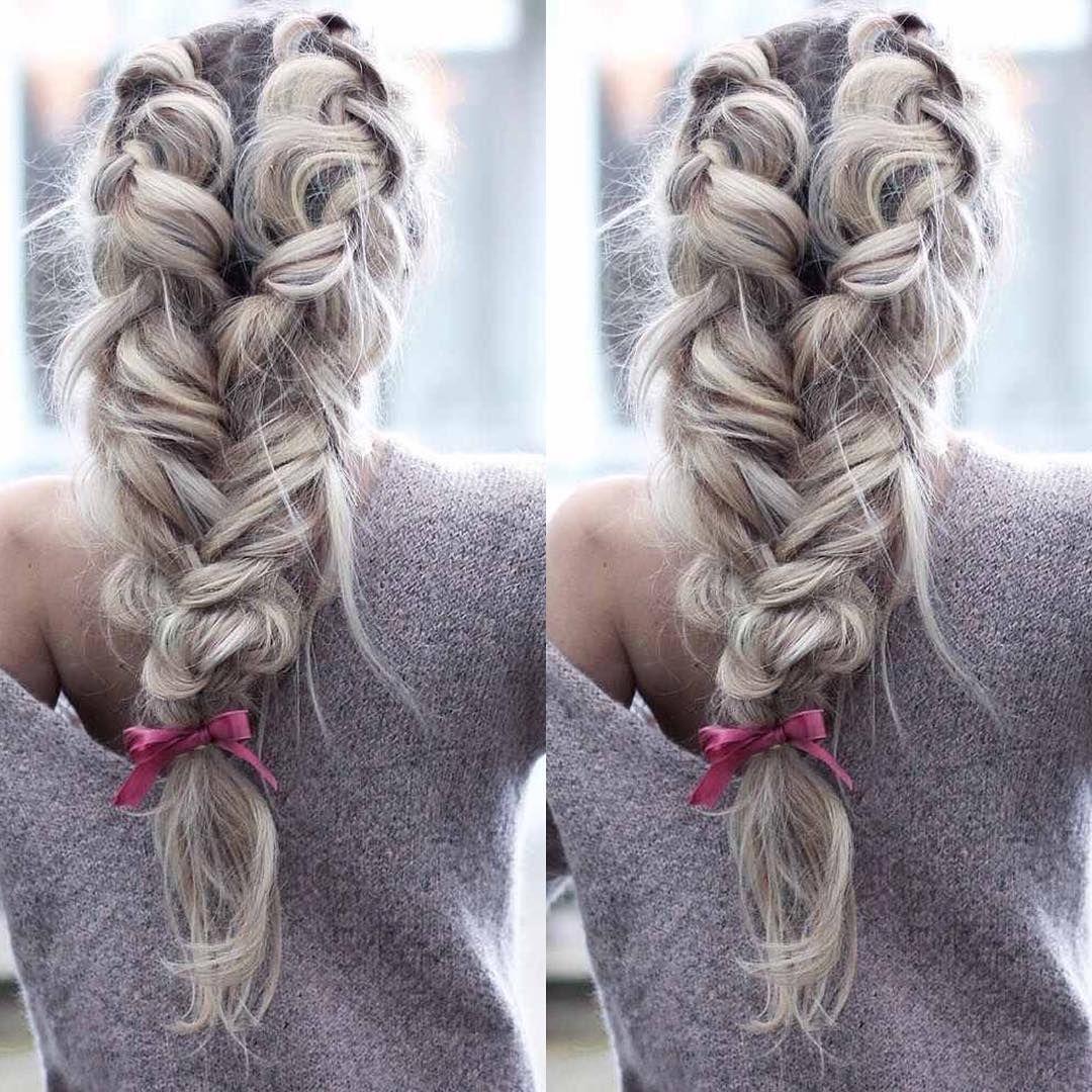 Amazing voluminous braid Create desired hairstyle adding natural ...