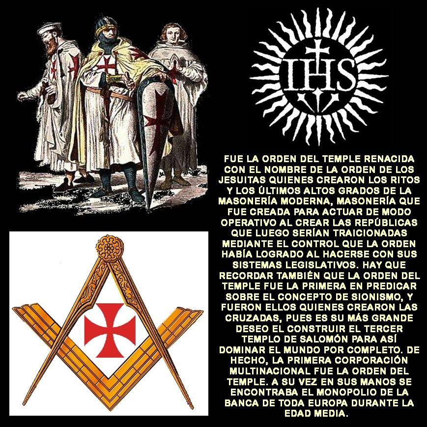 La Orden De Los Templarios Renacida Como La Orden De Los Jesuitas Orden Templaria Templarios Caballeros Templarios