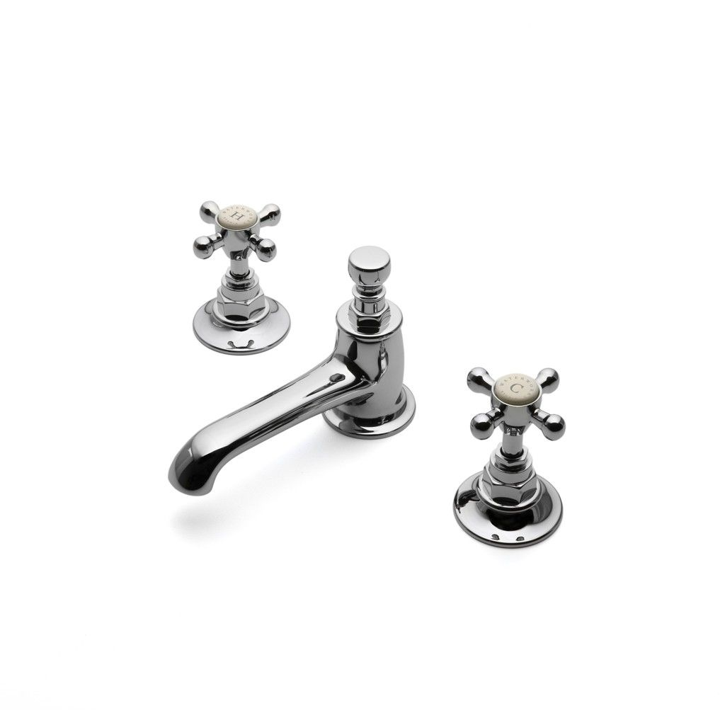 Found In: Highgate Cross Handle Bathroom Faucet,