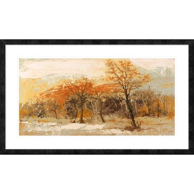 """Global Gallery 'Foresta I' by Lucas Framed Painting Print Size: 26"""" H x 44"""" W x 1.5"""" D"""