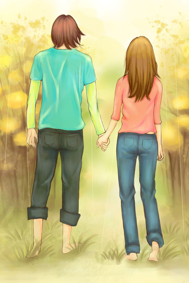 Gambar Anime Couple Holding Hands Gif   Animegif77
