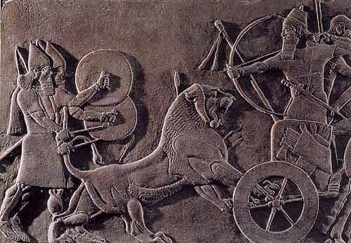 ASSYRIAN RELIEF SCULPT...