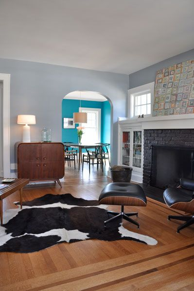 Blank Living Room Plus Benjamin Moore Shadow Gray