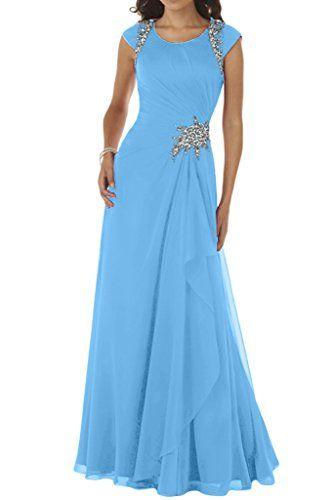 Ivydressing Damen Modisch A-Linie Rundkragen Chiffon Lang Festkleid Ballkleid Abendkleid-32-Blau Ivydressing http://www.amazon.de/dp/B015R3ND8K/ref=cm_sw_r_pi_dp_cID5wb056CXNJ