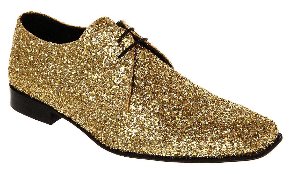 Gold glitter shoes, Sparkle shoes