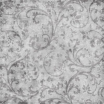 Grungy vintage floral damask scrapbook background by Jodielee, via Dreamstime