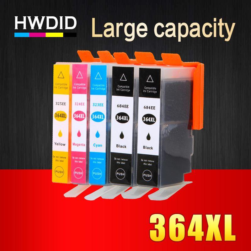 364xl Hwdid 5 Pack Substituicao De Cartuchos De Tinta Compativeis