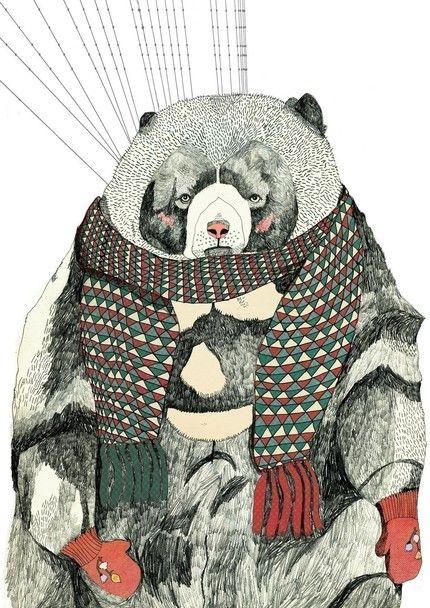 woolly bear print