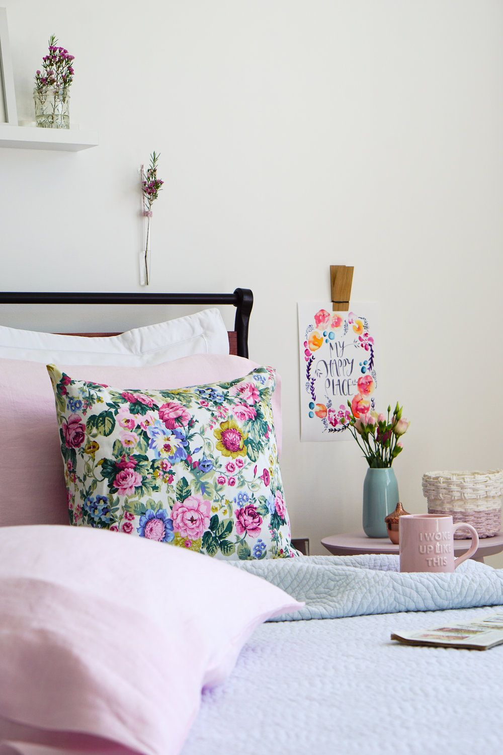 A mini bedroom makeover with pretty pastels | Beautiful ...