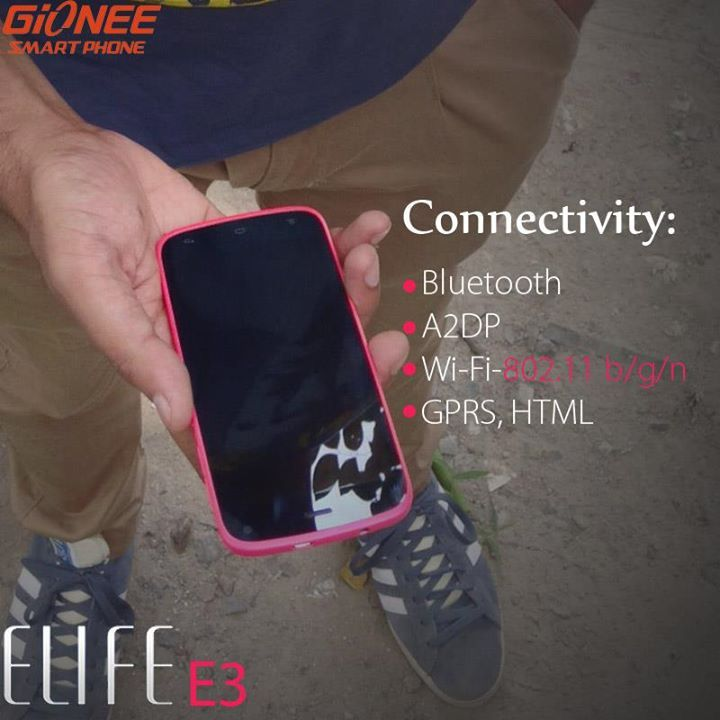 Gionee E3 Connectivities