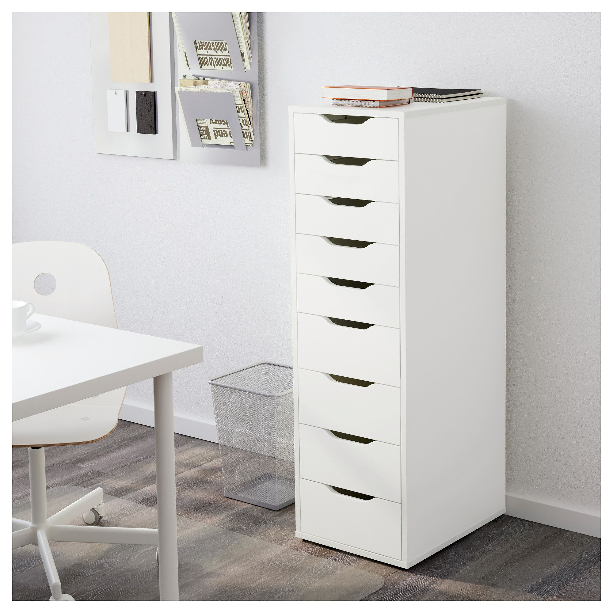 IKEA ALEX Drawer unit with 9 drawers white