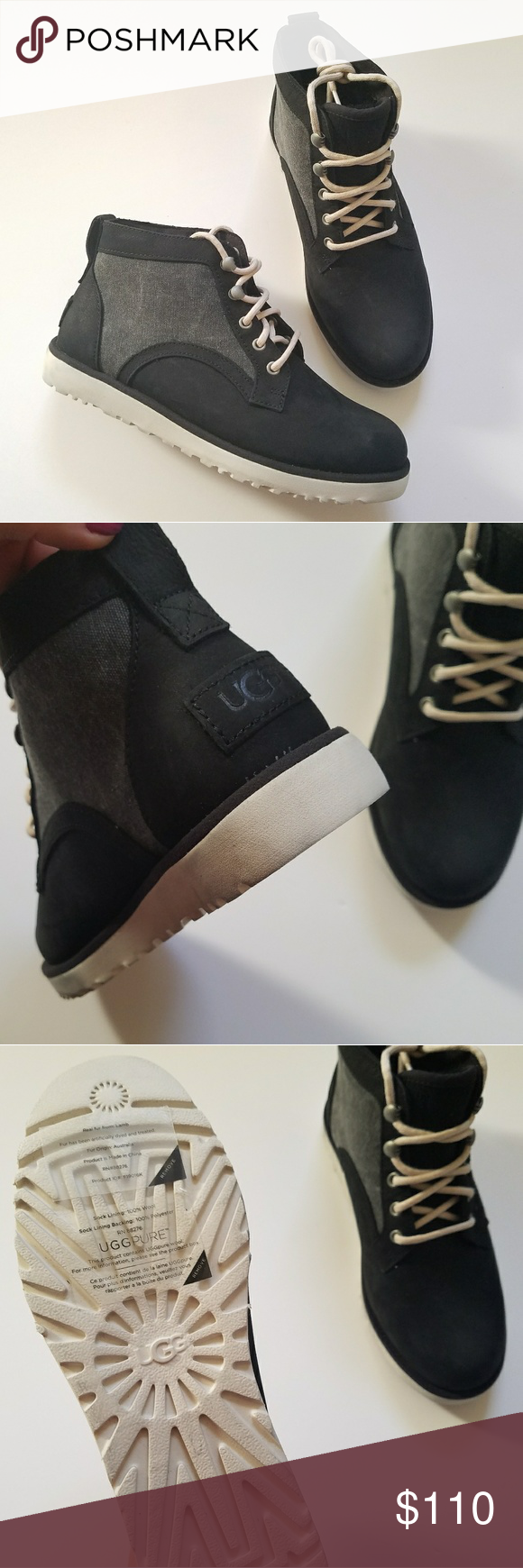5e6aaa7f9a9 NEW UGG Bethany Canvas Winter Boots in Black NEW without tags or box ...