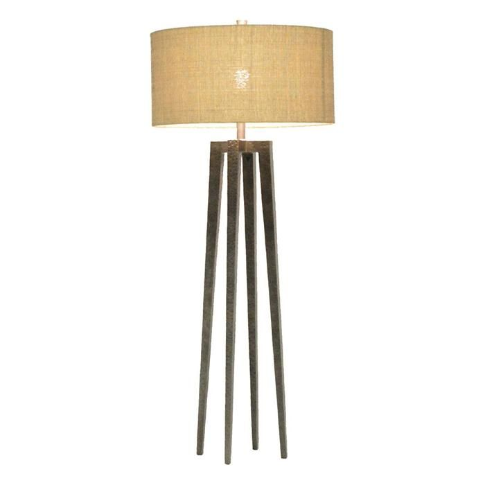 Pierce martin josephine quattro floor lamp in graphite nebraska furniture mart