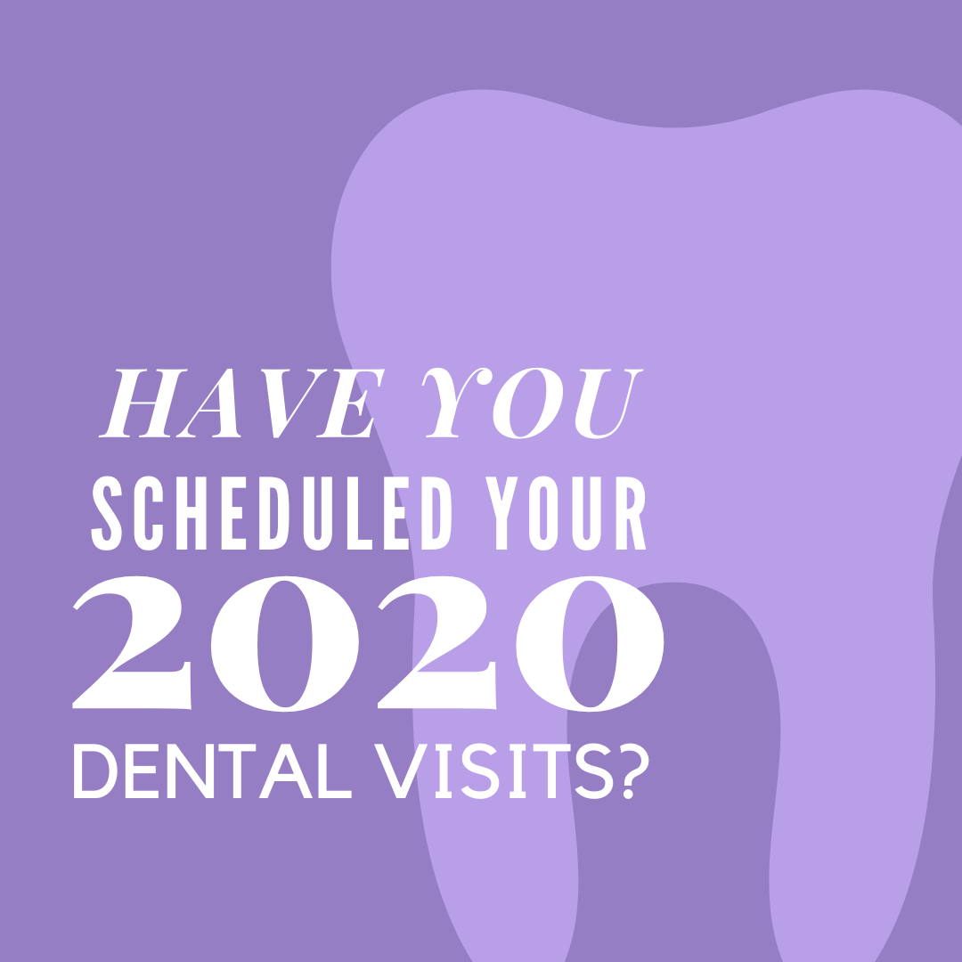 Start the year off ahead, get your two dental appointments