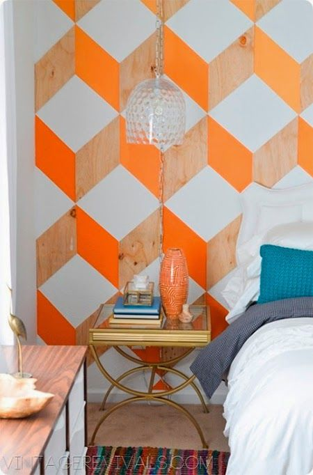 Use Wood And Paint To Create An Ombre Chevron Print.   29 Creative Ideas To  Decorate Your Walls