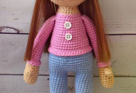 Patrón Muñeca dulce y bonita | Patrones de muñecas, Muñecas y Patrones