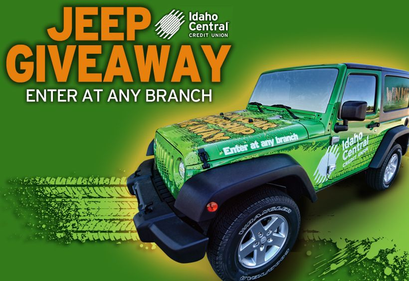 Jeep Credit Union >> Jeep Giveaway Idaho Central Credit Union Cool Jeeps Jeep Jeep