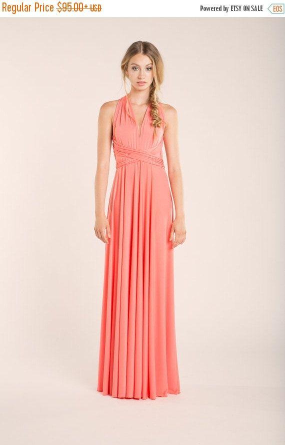 Coral Bridesmaid Dress Pink Bridesmaid Dress Coral Wedding Etsy Coral Bridesmaid Dresses Pink Bridesmaid Dresses Long Peach Bridesmaid Dresses