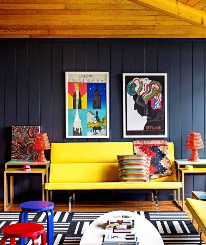 Postmodern Interior Designs Colorful Interior Design House Interior Living Room Color Schemes