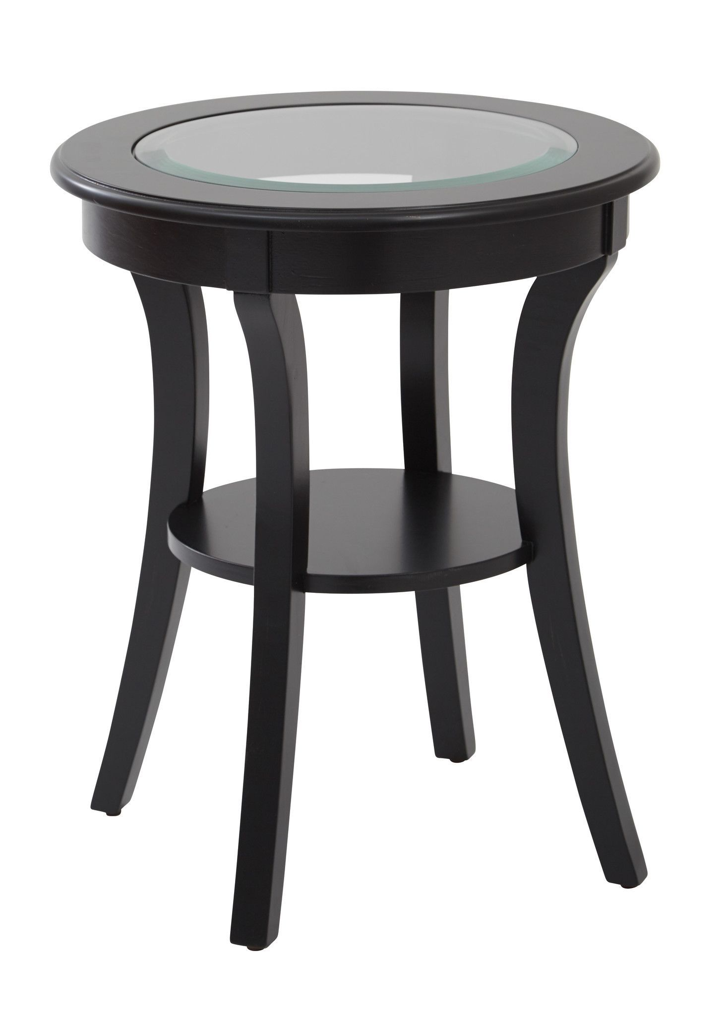 Buy osp designs harper round accent table with glass top and brushed