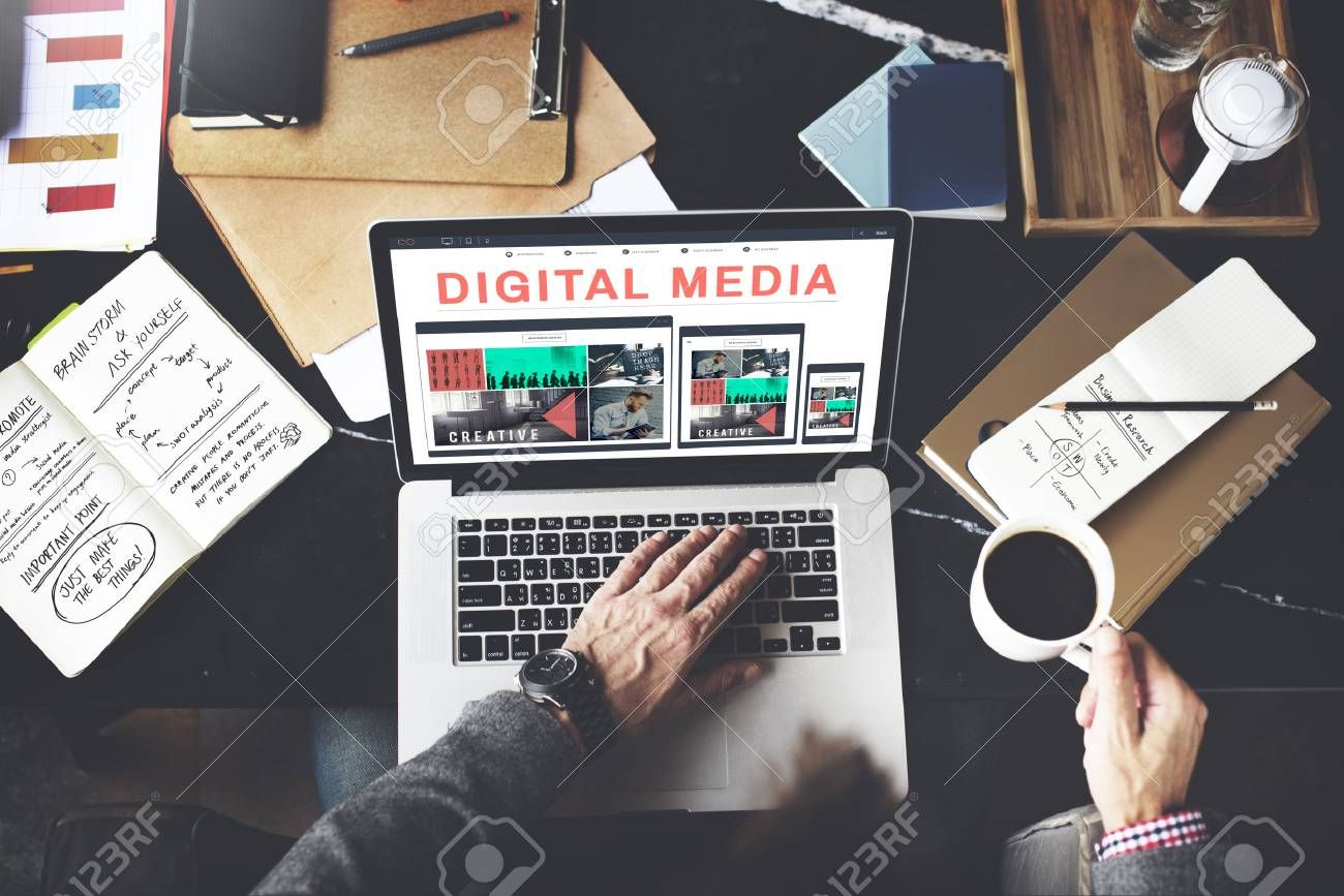 Digital Media Network Multimedia Technology Concept Stock Photo Aff Network Multimedia In 2020 Small Business Web Design Business Web Design Custom Web Design