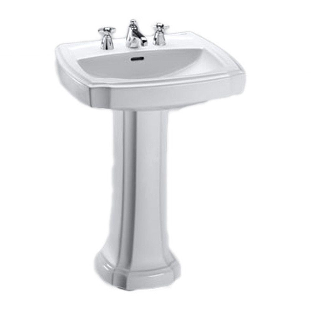 Toto 27-Inch Guinevere Pedestal Lavatory LPT962.8#01 (Cotton White ...