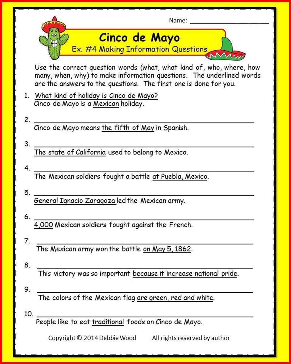 medium resolution of Cinco de Mayo/ Vocabulary/ Grammar/ Information Questions/ Scrambled Words    Word skills