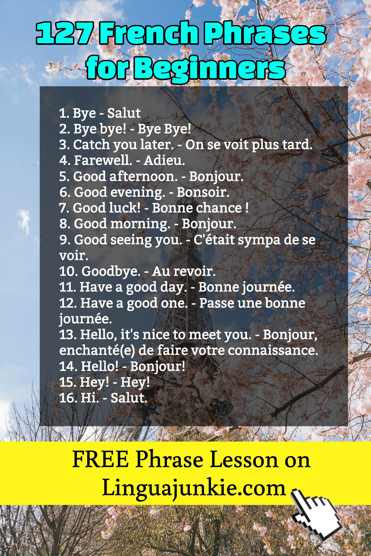 127 French Phrases Common Greetings Amp Love Phrases For