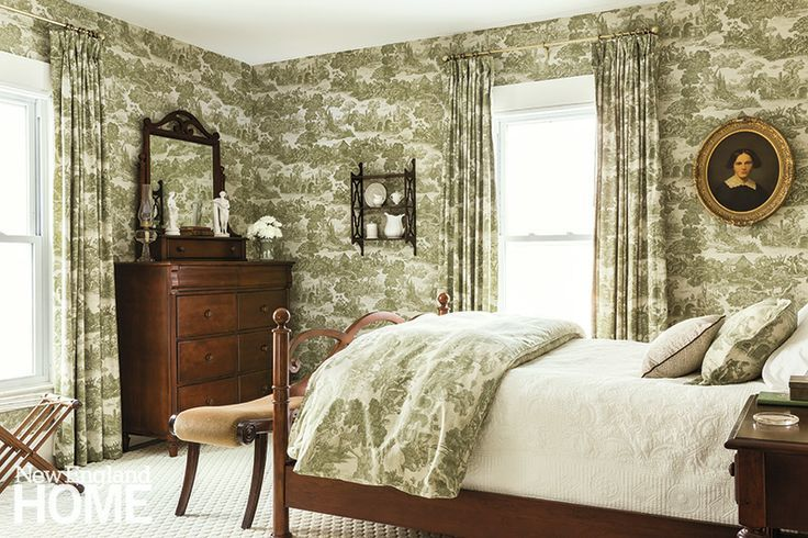 Brown Toile Bedroom Ideas: Brown & White Toile In New England
