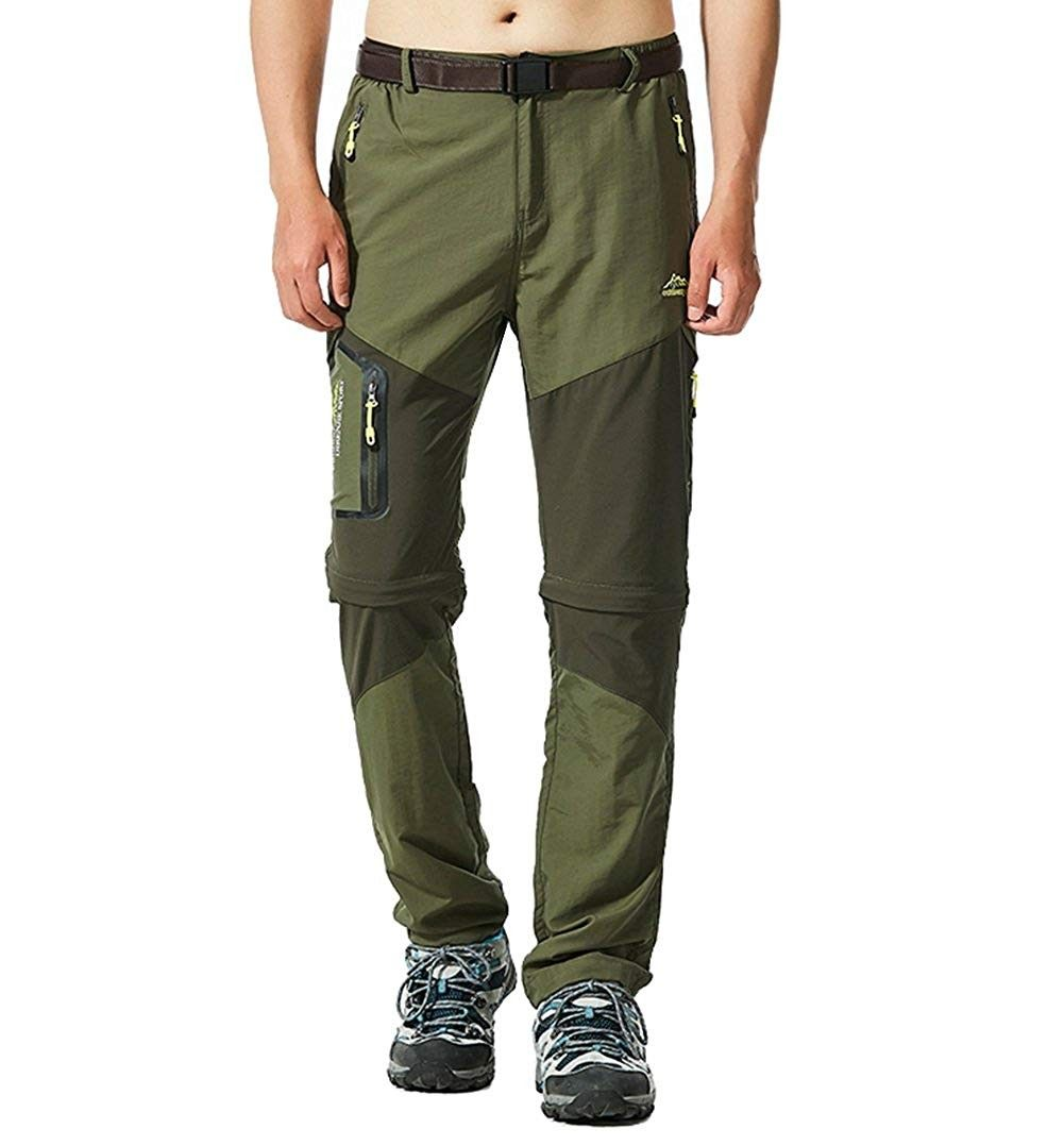 Men S Outdoor Convertible Pants Zip Off Quick Dry Lightweight Hiking Mountain Fishing Pants Multi Pockets C518ehl3o43 Size Us Xs Hiking Pants Pants Men Hiking