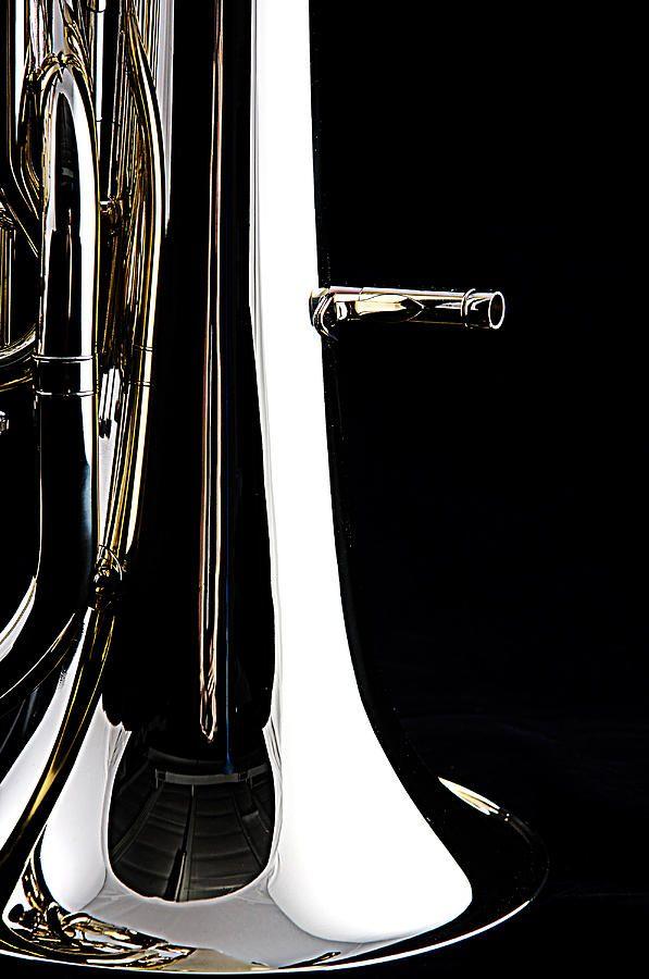 Bass Tuba Bell Isolated On Black Photograph  - Bass Tuba Bell Isolated On Black Fine Art Print