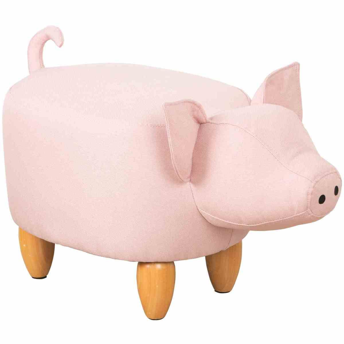 Kodu Upholstered Pig Ottoman in 2019 | Kids stool, Toddler