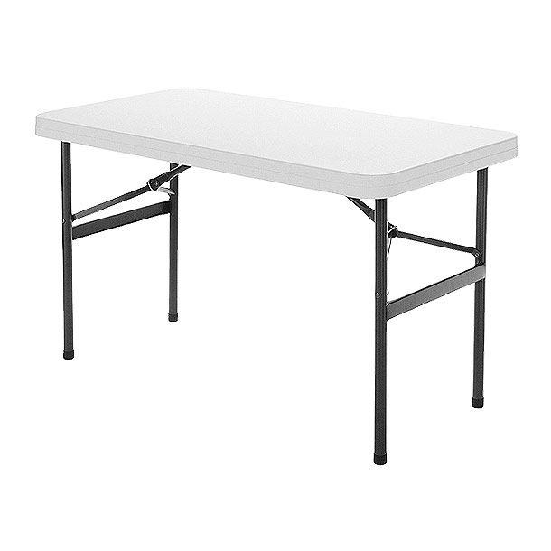 Mesa y patas plegadizas de pl stico medida 122 cm x 61 for Patas mesa bricodepot