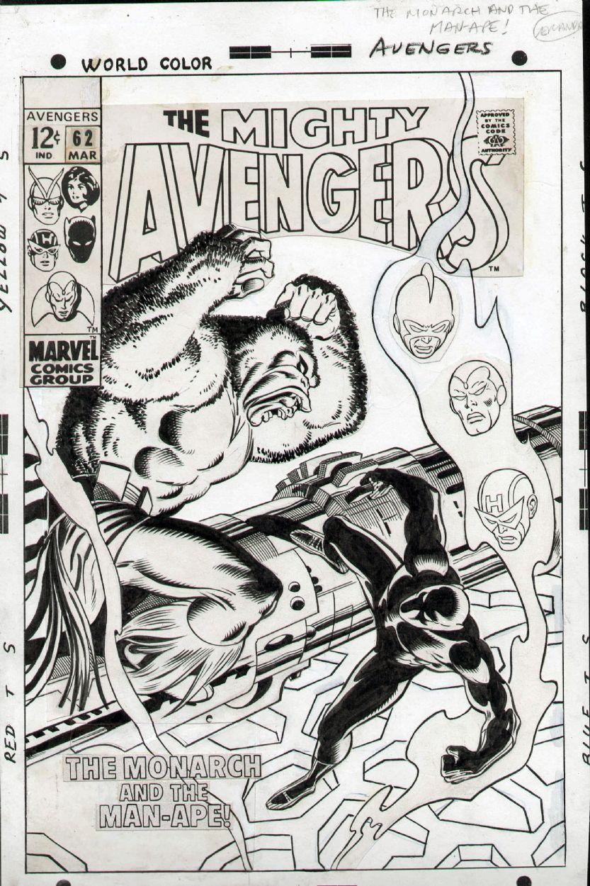Avengers #62, Cover Comic Art