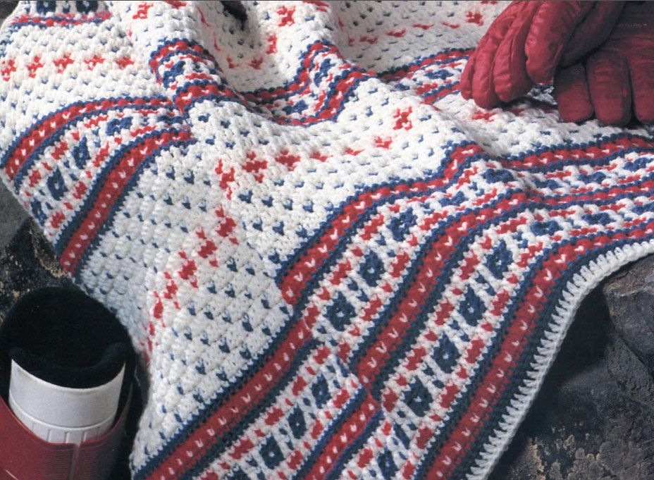 Ski Bunny Fair Isle Crochet Blanket Pattern by PearlShoreCat ...