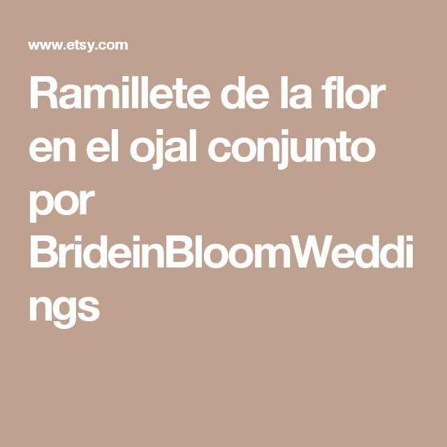 Ramillete de la flor en el ojal conjunto por BrideinBloomWeddings